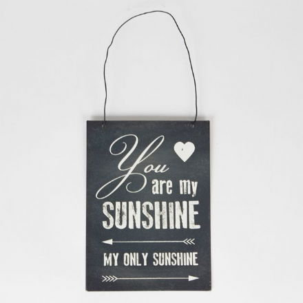 You Are My Sunshine Retro Arrow Print Tin Plaque